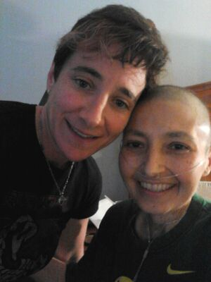 Eydith Kaufman with her partner Janina Hurtado who died from breast cancer in August 2014. Hurtado's tumors were masked by breast dense tissue, which delayed her diagnosis and treatment.