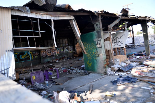 Pacific Coast Waste Services LLC lists its headquarters at a dilapidated building in Compton. The building has been abandoned and in disrepair for years, though the company has paid Inglewood Councilman Eloy Morales at least $30,000 during that time.Compton May 3, 2018. Photo by Brittany Murray, Daily Breeze/SCNG