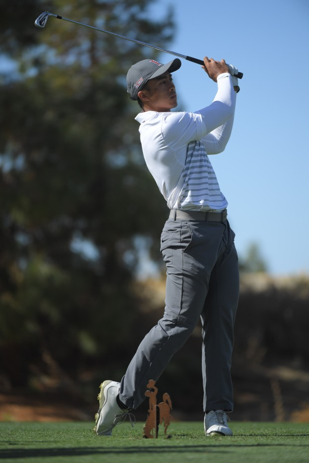 Cal State Fullerton's Martin Manalo competes in February. This month Manalo tied for third at the Big West Championship in City of Industry.Photo courtesy Matt Brown/Cal State Fullerton Athletics