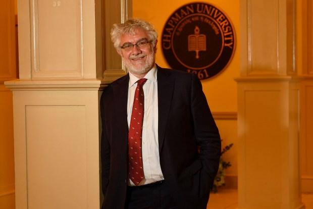 Chapman University President Daniele Struppa in Orange, CA, on Monday, May 21, 2018. (Photo by Jeff Gritchen, Orange County Register/SCNG)