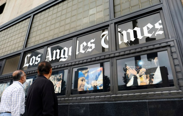 Above, the Los Angeles Times building in downtown Los Angeles is seen in a 2016 photo. The Times suspended the head of its Beijing bureau Wednesday, May 16, 2018, after he was accused of sexual misconduct for a second time. (AP Photo/Richard Vogel, File)