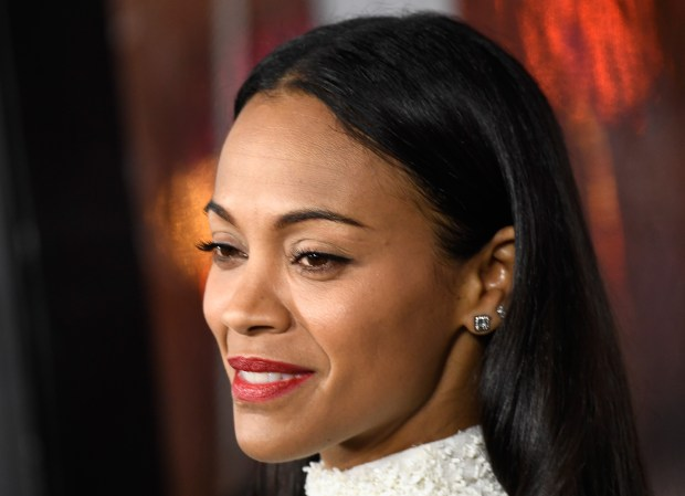 Actress Zoe Saldana, seen in a January 2017 photo, is set to receive a star on the Hollywood Walk of Fame on Thursday, May 3, 2018. (Photo by Frazer Harrison/Getty Images)