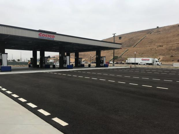 The gas station at the new Costco in Monterey Park, which is scheduled to open May 31. (Courtesy photo)