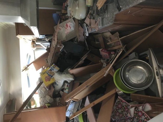 A driver dozed off and crashed into a West Covina house on Donna Beth, police said. (Courtesy)