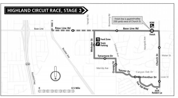 The Redlands Bicycle Classic will run through Highland on Friday, May 4, 2018. (Courtesy map)