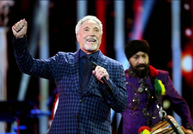Tom Jones, shown here performing at the Royal Albert Hall in London on Saturday April 21, 2018, for a concert to celebrate the 92nd birthday of Britain's Queen Elizabeth II, will perform at Fantasy Springs Casino in Indio this weekend. (File photo by Andrew Parsons/Pool via AP)