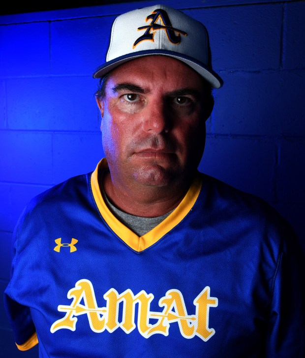 SGV Tribune baseball coach of the year Bishop Amat Memorial High School's Joe Hoggatt at Bishop Amat Memorial High School in La Puente, Calif., on Tuesday, June 5, 2018. (Photo by Keith Birmingham, Pasadena Star-News/SCNG)