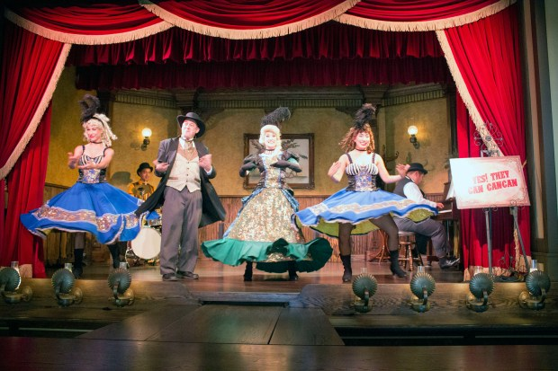 "Can-Can dancers perform in the Calico Saloon during ""Ghost Town Alive"" at Knott's Berry Farm. (File photo by Mark Eades, Orange County Register/SCNG)"