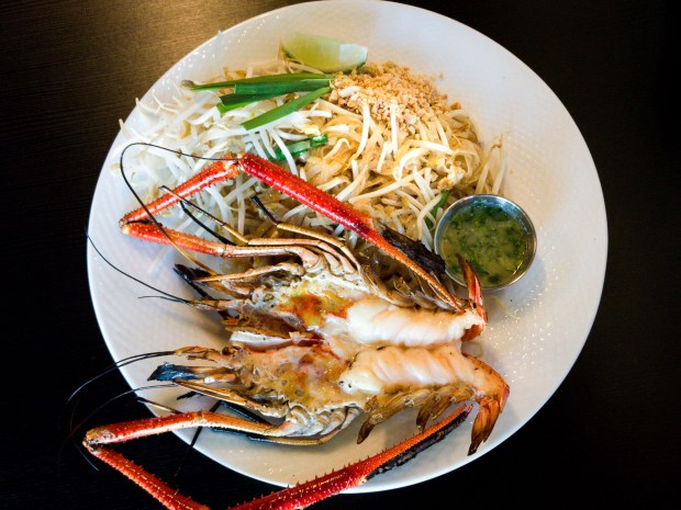 Pad Thai with freshwater prawn at Thai Avenue in Garden Grove. (Photo by Brad A. Johnson, Orange County Register/SCNG)