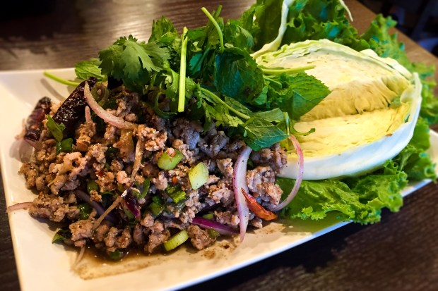 Spicy pork larb at Chada Thai in Garden Grove. (Photo by Brad A. Johnson, Orange County Register/SCNG)