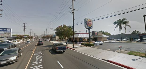 Two people were hurt Tuesday, June 19, 2018, in a stabbing at this Burger King restaurant, 545 N. Victory Blvd. in Burbank. (Google Street View)