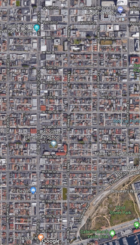 The Los Angeles City Council has officially designated a portion of San Pedro as Historic Little Italy. (Google Maps)