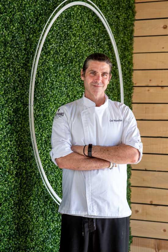 Chef Max Schlutz at Sessions West Coast Deli in Irvine.