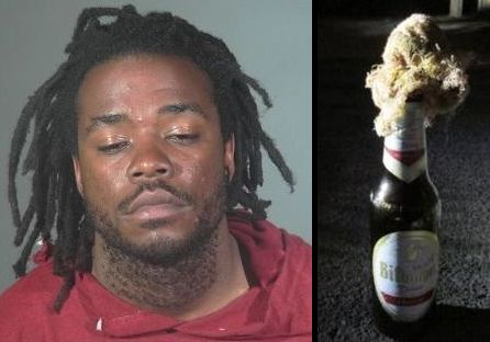 Dale Williams, a 26-year-old transient, was arrested in Torrance over the weekend after police discovered a Molotov cocktail in the basket of his bicycle, authorities said on Monday, June 11, 2018. (Courtesy photos)