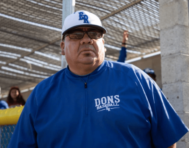 El Rancho baseball c oach Larry Patino has been selected the Whittier Daily News baseball coach of the year. (Courtesy Photo).