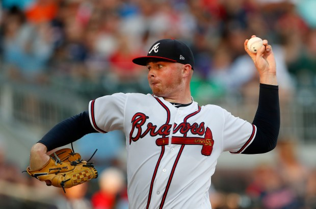 Braves starting pitcher Sean Newcomb, the left-handed pitcher sent to Atlanta in the Andrelton Simmons trade, has won seven straight decisions, is ninth in the National League in ERA at 2.49, and hasn't allowed a home run since April 26. (AP Photo/John Bazemore)