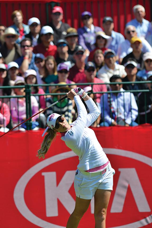 Golfer Christie Kerr at the LPGA Kia Classic at Park Hyatt Aviara Resort & Golf Club.