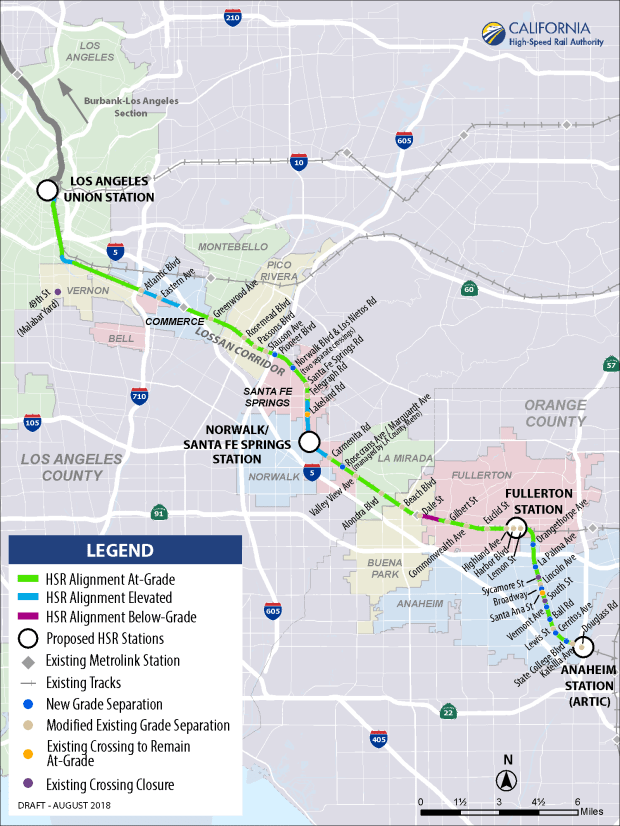 Plans for high-speed rail from LA to OC are set, but some cities
