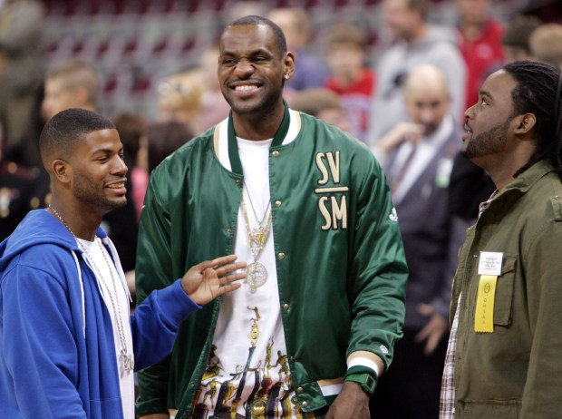 baadc8d1099 Former Akron St. Vincent-St. Mary s High School basketball star LeBron James