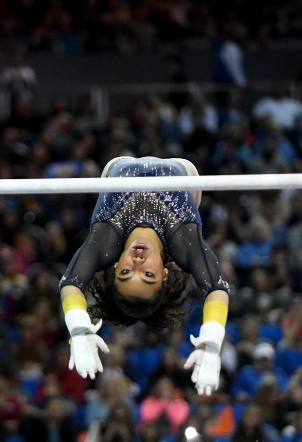 UCLA gymnastics team thrives behind Grace Glenn, Margzetta Frazier in leadoff roles