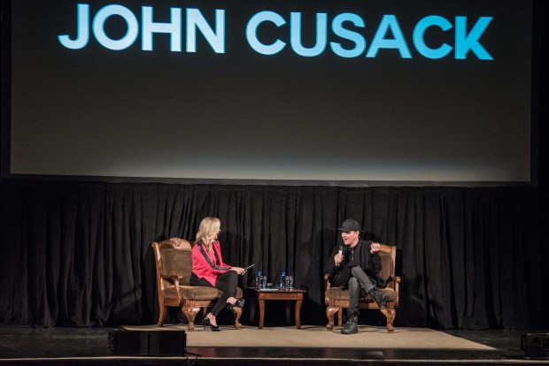 Expect John Cusack to say anything in Riverside at a 'Grosse Pointe Blank' screening and Q&A