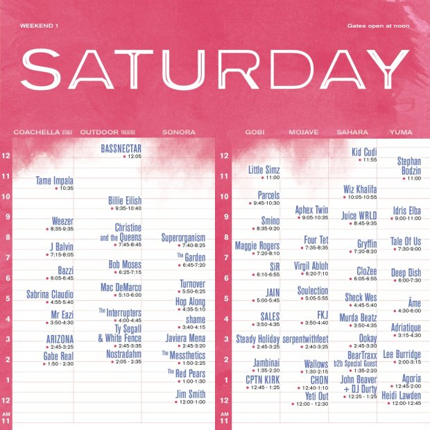 Coachella 2019: Set times and schedule announced, here's