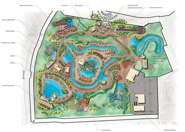 Get a look at newest map for the Wild Rivers water park ...
