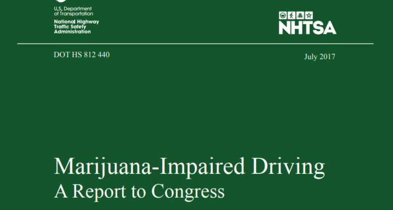 NHTSA study on weed