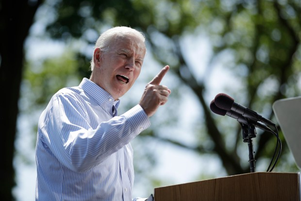 "Former Vice President Joe Biden, the current front-runner for the Democratic presidential nomination, said last month there is ""no alternative"" but impeachment if the administration keeps stonewalling congressional investigations. But Biden has notably stopped short of urging House Speaker Nancy Pelosi to move forward. (AP Photo/Matt Rourke, File)"