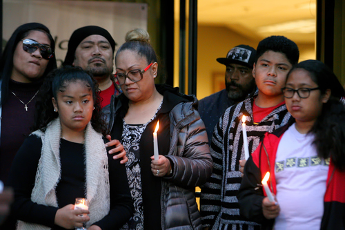 4c951e912 Vanesha Foisia, mother of Exodus Foisia and family members gather honoring  Exodus Foisia, the 19-year-old who was murdered on May 4th in Carson, ...