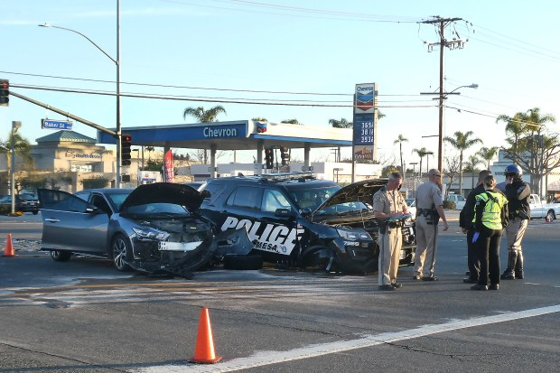 costa mesa police officer  man injured in intersection