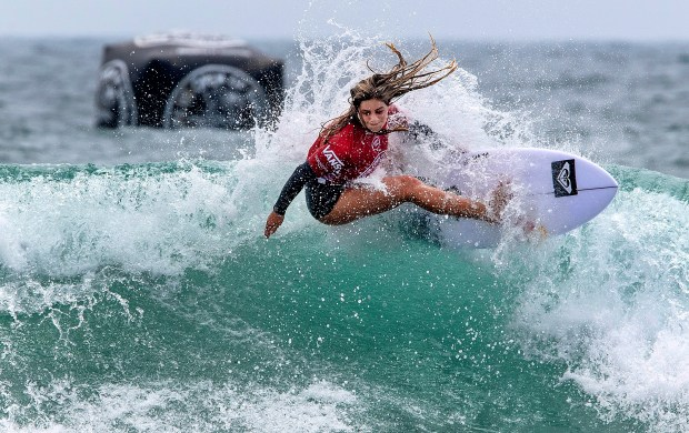 Local surfers begin prepping for the sport's Olympic debut in Tokyo