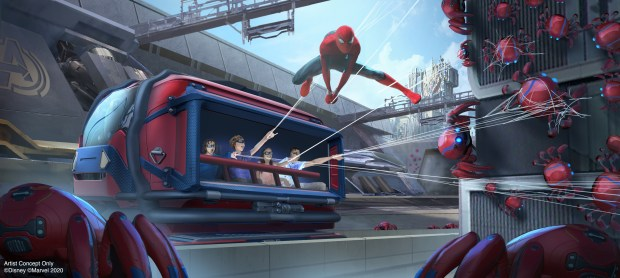Disney's Spider-Man ride uses gesture-tracking tech to let riders sling virtual webs