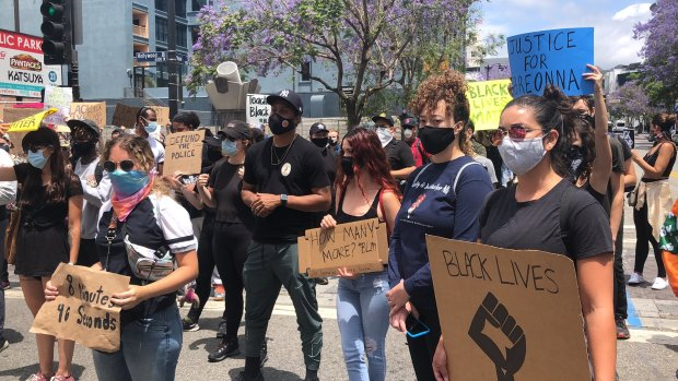 Mammoth Hollywood march occupies several city blocks on Saturday