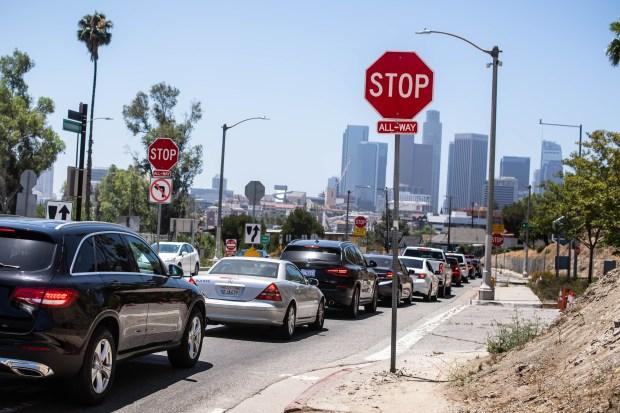 Demand is taxing LA-area coronavirus testing sites, prompting warnings from Garcetti