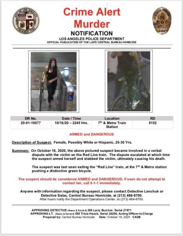 Police seek suspect in fatal stabbing of LA Metro employee at downtown rail station