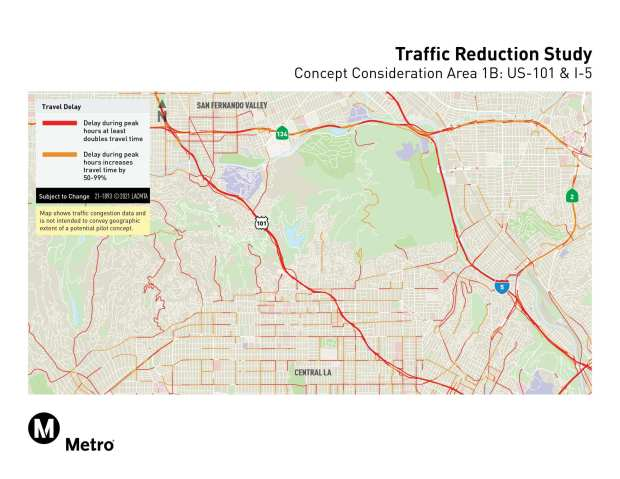 Metro congestion pricing sites, concept 1B