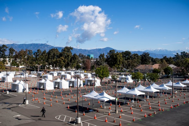 Cal State LA hosts first federally supported coronavirus mass vaccine site – with many more to come