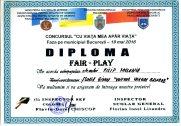 Diploma Cu viata mea apar viata 2016 - Filip Melania -   FAIR PLAY