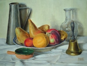 Artist: Daniel Girard Title: The Fruit Bowl Size 10in x 14in Signed: Yes
