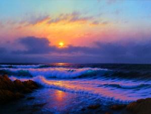 Sunset off Asilomar