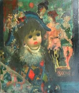 Artist: J. Calogero Title: The Little Clown Size: 21.5in x 18in Framed: No