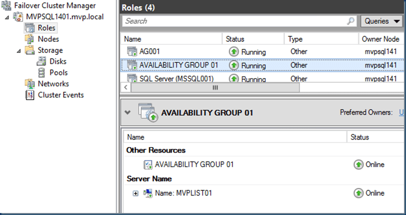 AlwaysOn Failover AG (SQL Server)