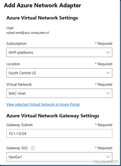 Windows Server 2019 with Azure Network Adapter