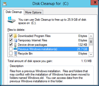 How do I remove the Windows.old folder?