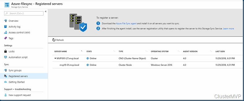 Deploy Azure File Sync