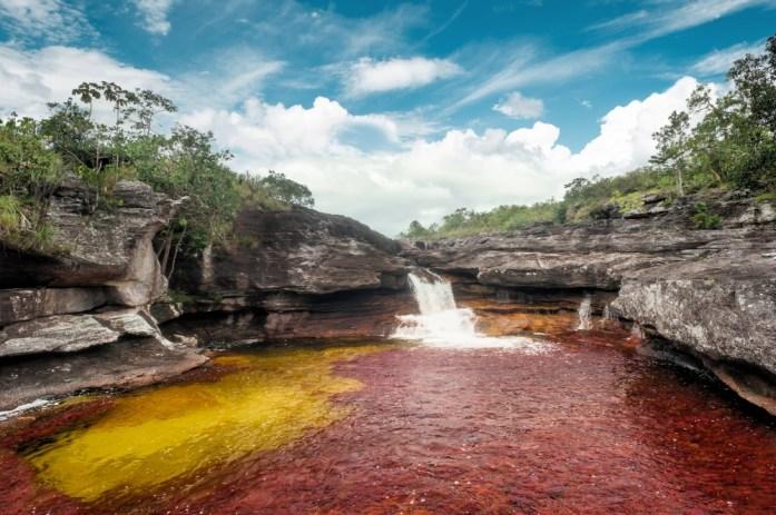 cano cristales si trova in colombia ed è il fiume più colorato del Mondo