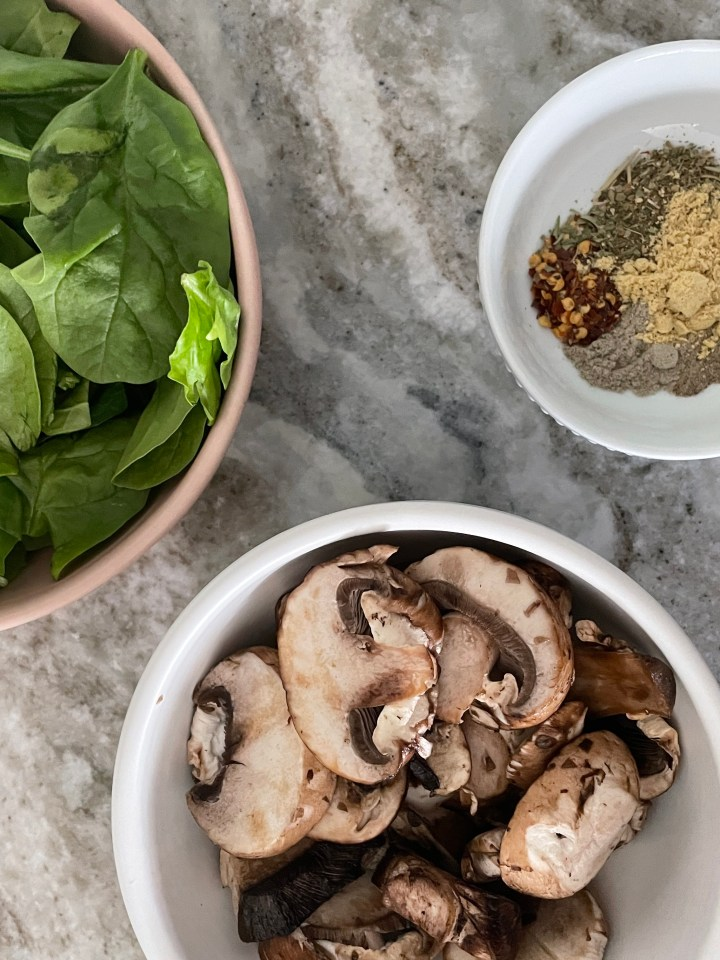 mushrooms and spinach add so much flavor to this dish