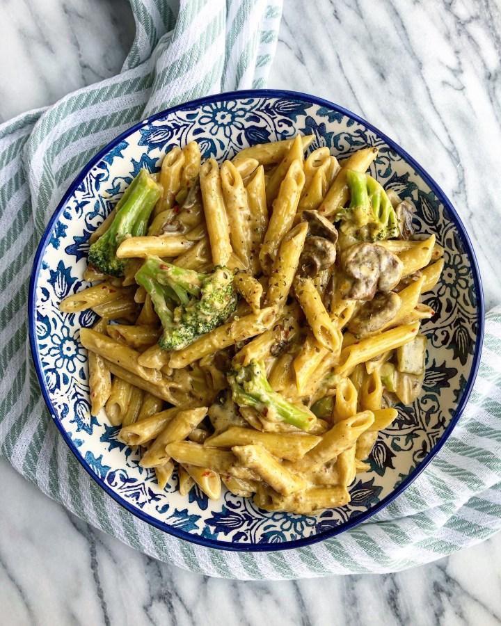 Garlic Mushroom Penne