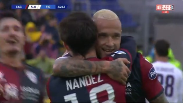 MISSILE by Radja Nainggolan at the Cagliari Festival against Fiorentina (video)